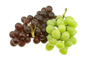 Bunch of Red and White Seedless Grapes