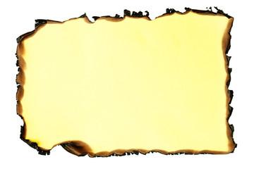 Burnt paper.