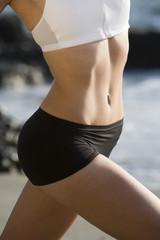 Detailed shot of a fit woman