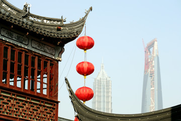 Yu Gardens, WF Center and Jinmao Tower, Shanghai, China