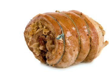 Roast Breast of Lamb, Rolled and Stuffed.
