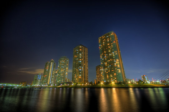 Night landscape building HDR shot