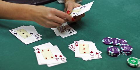 Cards in hands