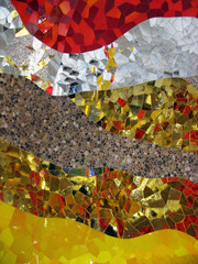 Gold and silver mosaic