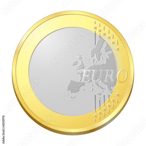 pi ce euro sans inscription fichier vectoriel libre de droits sur la banque d 39 images fotolia. Black Bedroom Furniture Sets. Home Design Ideas
