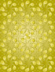vector file of golden color floral pattern