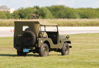 Wall Mural - Military wartime Jeep
