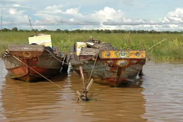 Cambodian boats