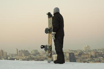 male snowboarder