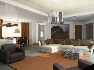 3d render of a modern interior