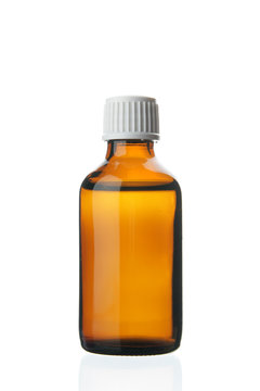 Single small bottle with drug