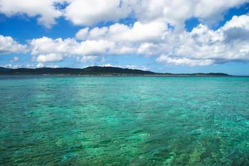Calm waters around the island