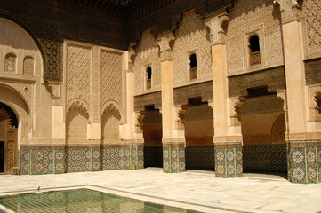 Patio at Ben Youssef Medrassa in Marrakech