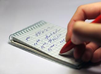 pen, hand