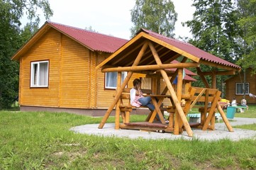 The wooden house on the nature
