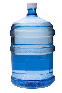 water  gallon with clipping path
