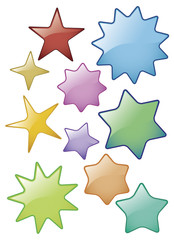 Glass Star Icons