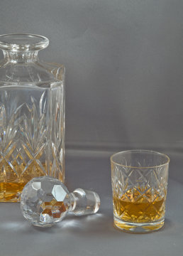 Whiskey decanter & glass