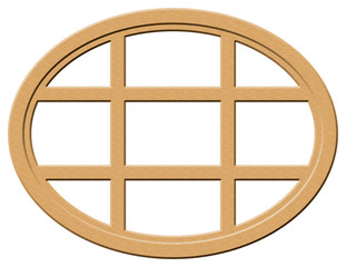 Light Wood Oval Window