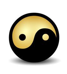 Yin Yang - gold