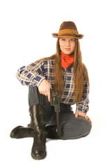 Sitting cowgirl 2