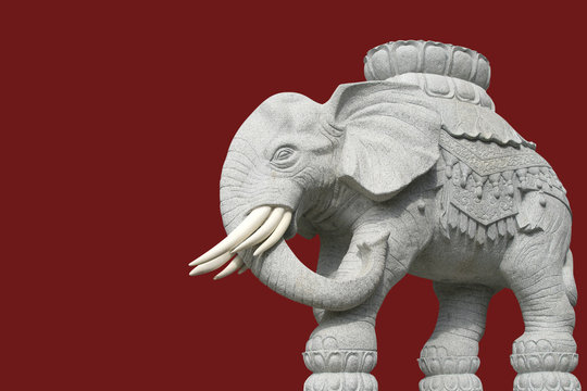white elephant statue in asia