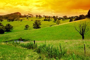 Fototapete - Rural Sunset