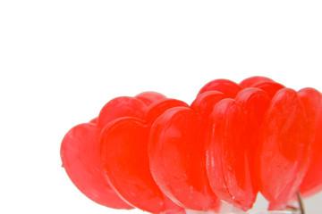red lollipop hearts