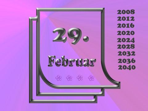 29.. Februar