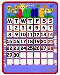 calendar june 2009