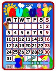 calendar august 2009