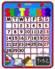 calendar september 2009