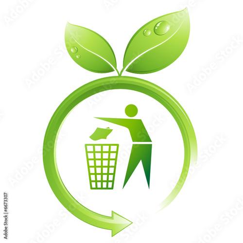 Logo de recyclage feuilles fichier vectoriel libre de droits sur la banque d 39 images fotolia - Recyclage des cagettes en bois ...