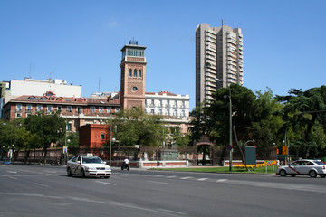 View on Alcala street in Madrid.