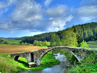 Old Roman bridge in mountain Rhodopi
