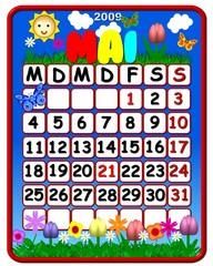 Kalender deutsch - mai- Feiertage