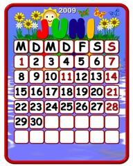 Kalender deutsch - juni- Feiertage