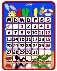 Kalender deutsch - juli- Feiertage