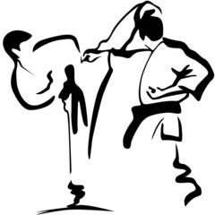 karate kämpfer