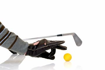male golfer cheating