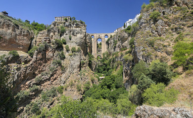 Puente Nuevo in Ronda als Panorama