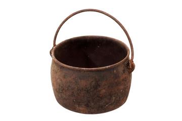 Old metal pot