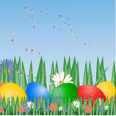 easter background,vector illustration