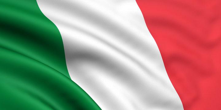 Rendered italian flag