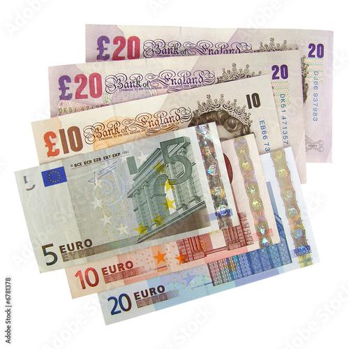 Euros And Pounds Euro Pound
