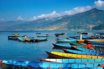 Photo sur Aluminium Népal Beautiful lake