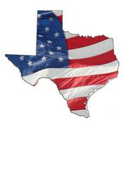 us flag over texas