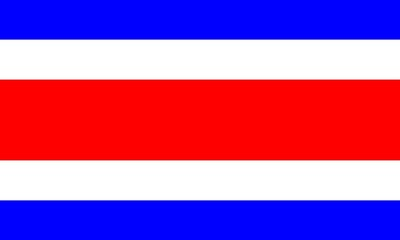 flag of costa rica with official proportion