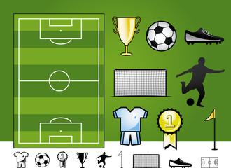 Fußball - Icons und Grafiken