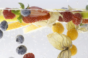fruits under water